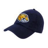 Navy Twill Unstructured Low Profile Hat-Mascot Head