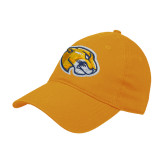 Gold Twill Unstructured Low Profile Hat-Mascot Head