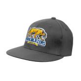 Charcoal Flexfit Flat Bill Pro Style Hat-Primary Mark