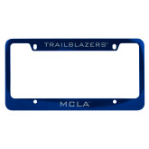 Metal Blue License Plate Frame-Trailblazers