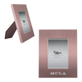 Pink Brushed Aluminum 3 x 5 Photo Frame-MCLA  Engraved