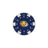 Blue Game Chip-Mascot Head