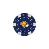 Blue Game Chip-Mascot Head
