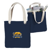 Allie Navy Canvas Tote-Primary Mark