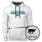 Contemporary Sofspun White Hoodie-Mesa Community College Thunderbirds