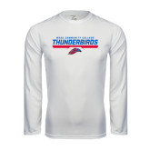 Performance White Longsleeve Shirt-Mesa Community College Thunderbirds