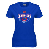 Ladies Royal T Shirt-Valley of the Sun Bowl Champions Football 2016