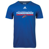 Adidas Climalite Royal Ultimate Performance Tee-Mesa Community College Thunderbirds