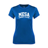 Ladies Syntrel Performance Royal Tee-Mesa Community College Arched