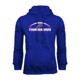 Royal Fleece Hoodie-Thunderbirds MCC Football w/ Ball