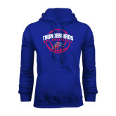 Royal Fleece Hoodie-Thunderbirds MCC Basketball w/ Ball