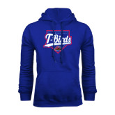 Royal Fleece Hoodie-T-Birds Baseball w/ Plate