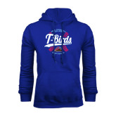 Royal Fleece Hoodie-T-Birds Softball w/ Seams