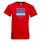 Red T Shirt-Region 1 Tenth Straight Champions - Womens Golf 2016