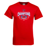 Red T Shirt-Valley of the Sun Bowl Champions Football 2016