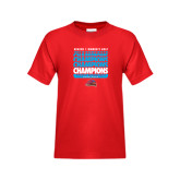 Youth Red T Shirt-Region 1 Tenth Straight Champions - Womens Golf 2016