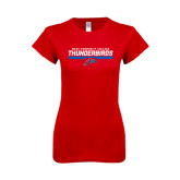 Next Level Ladies SoftStyle Junior Fitted Red Tee-Mesa Community College Thunderbirds
