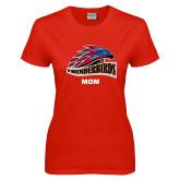 Ladies Red T Shirt-Mom