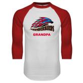 White/Red Raglan Baseball T Shirt-Grandpa