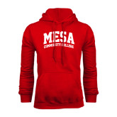 Red Fleece Hoodie-Mesa Community College Arched