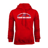 Red Fleece Hoodie-Thunderbirds MCC Football w/ Ball