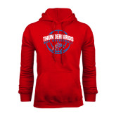 Red Fleece Hoodie-Thunderbirds MCC Basketball w/ Ball