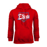 Red Fleece Hoodie-T-Birds Baseball w/ Plate