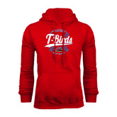 Red Fleece Hoodie-T-Birds Softball w/ Seams