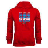Red Fleece Hoodie-Region 1 Tenth Straight Champions - Womens Golf 2016