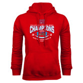 Red Fleece Hoodie-Valley of the Sun Bowl Champions Football 2016