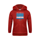 Youth Red Fleece Hoodie-Region 1 Tenth Straight Champions - Womens Golf 2016