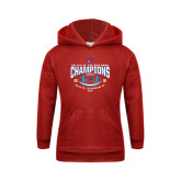 Youth Red Fleece Hoodie-Valley of the Sun Bowl Champions Football 2016