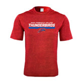 Performance Red Heather Contender Tee-Mesa Community College Thunderbirds