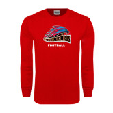 Red Long Sleeve T Shirt-Football