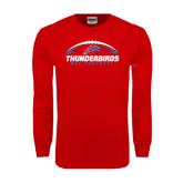 Red Long Sleeve T Shirt-Thunderbirds MCC Football w/ Ball