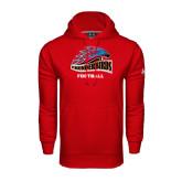 Under Armour Red Performance Sweats Team Hood-Football