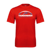 Performance Red Tee-Thunderbirds MCC Football w/ Ball