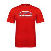 Syntrel Performance Red Tee-Thunderbirds MCC Football w/ Ball