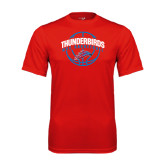 Performance Red Tee-Thunderbirds MCC Basketball w/ Ball