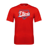 Performance Red Tee-T-Birds Baseball w/ Plate