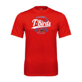 Performance Red Tee-T-Birds Softball w/ Seams