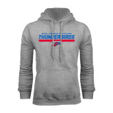 Grey Fleece Hoodie-Mesa Community College Thunderbirds