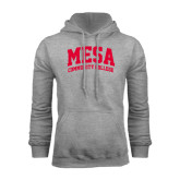 Grey Fleece Hoodie-Mesa Community College Arched