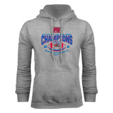 Grey Fleece Hoodie-Valley of the Sun Bowl Champions Football 2016