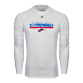 Under Armour White Long Sleeve Tech Tee-Mesa Community College Thunderbirds