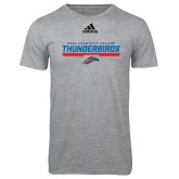 Adidas Sport Grey Logo T Shirt-Mesa Community College Thunderbirds
