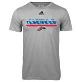 Adidas Climalite Sport Grey Ultimate Performance Tee-Mesa Community College Thunderbirds