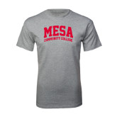 Grey T Shirt-Mesa Community College Arched