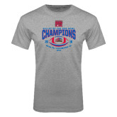 Grey T Shirt-Valley of the Sun Bowl Champions Football 2016