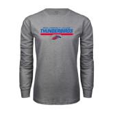 Grey Long Sleeve T Shirt-Mesa Community College Thunderbirds